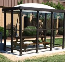 5 x 15 Bus Stop Shelter Dome 2 Opening