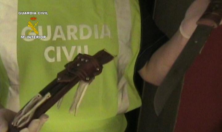 La Guardia Civil detiene a ocho personas integrantes de una organización dedicada a cometer atracos con gran violencia