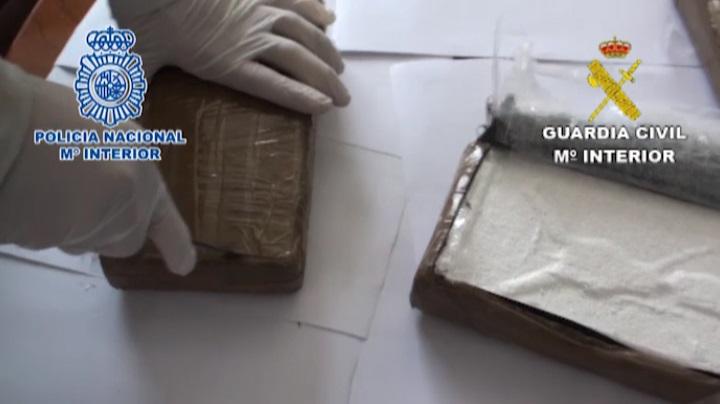 Incautados 100 kilos de cocaína y 148.000 euros en efectivo a una red de narcotraficantes
