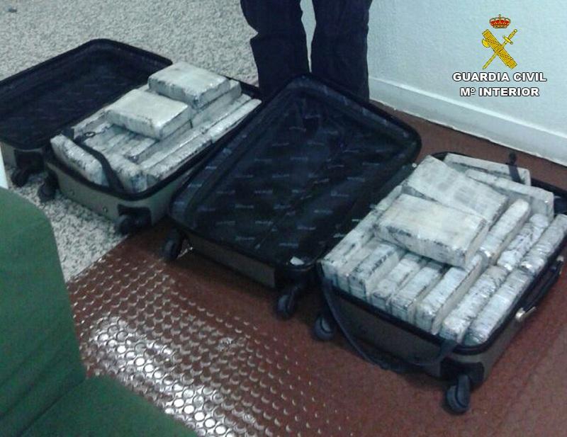 Desarticulada una red de narcotraficantes que pretendía introducir en España una importante cantidad de cocaína