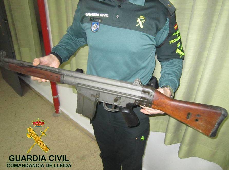 La Guardia Civil detiene a una persona por tenencia ilícita de armas en Lleida