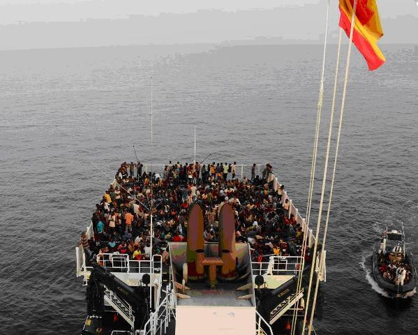 La Guardia Civil y la Guardia Costera rescatan a 523 inmigrantes cerca de la costa de Líbia