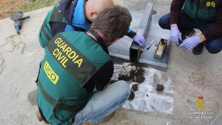 La Guardia Civil interviene más de 375 kilogramos  de cocaína  negra
