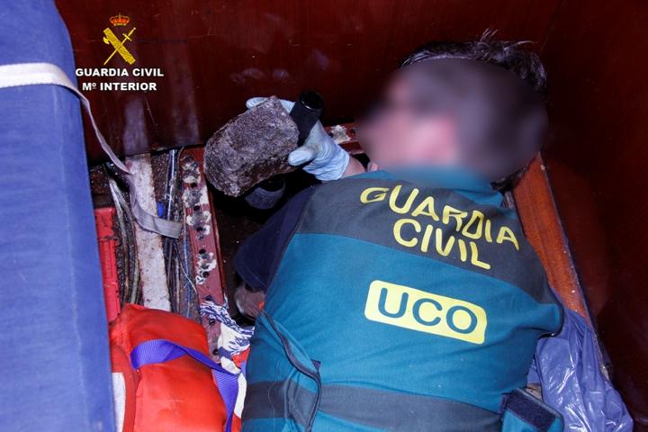 La Guardia Civil interviene más de 375 kilogramos  de cocaína  negra