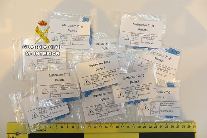 La Guardia Civil desmantela un laboratorio clandestino que servía de centro de distribución internacional de Nuevas Sustancias Psicoactivas (NSP)