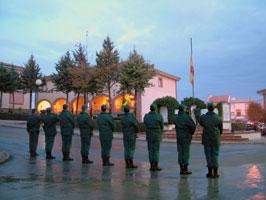 Izado bandera en la Academia de Suboficiales y Guardias de la Guardia Civil