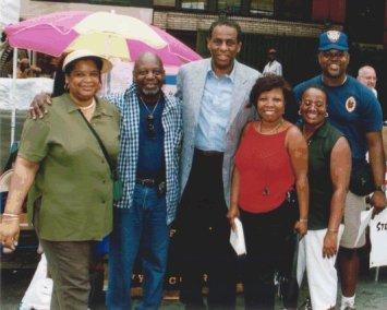 Left to right: Former 1st Vice Pres. Deborah Kilpatrick-Jones, Pres. Eugene Jordan, State Comptroller H. Carl McCall, SCO Patrice Baptise, Former Secretary Edna Krause, & UCO Tony Evans, Former Sgt at Arms.