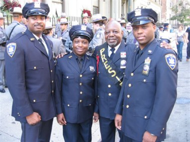 President Eugene Jordan with NYS Court Officers at the Parade.