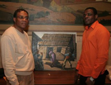 2007 - Artist James Bernard & Rondoll Fraser displayed their works