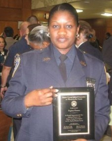 Nassau County Women in the Courts Honoree Court Officer Regina Greene.