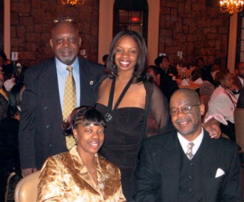 Our 2005 Awardee Lt. Tawya Young and family at the Grand Council of Guardians Dinner, with Pres. Eugene Jordan