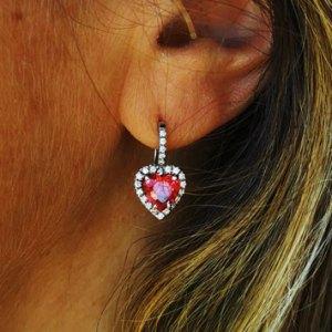 Orecchini donna cuore in argento 925