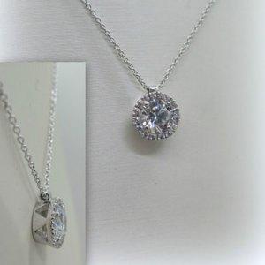 Collana Ciondolo punto luce con contorno in argento 925