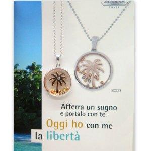 Ciondolo pianta palma in argento 925 Les Folies
