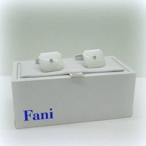 Gemelli uomo polsini FANI in argento 925 con trattamento nano ceramica