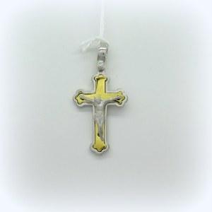 Ciondolo croce pendente in argento 925