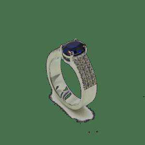 Anello in argento 925 pietra blu