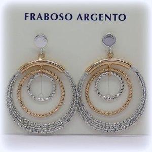 Orecchini fraboso argento pendenti