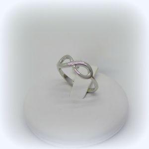 Anello infinito in oro bianco 18 ct