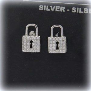 Orecchini Lucchetto in argento 925 e pietre
