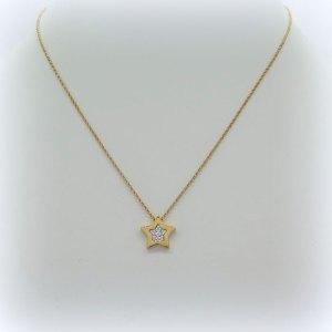 Collana stella in argento rosato