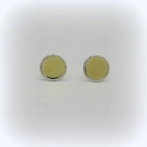 Orecchini bottone tondi in oro