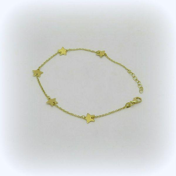 Bracciale stelle in oro giallo 18 ct