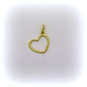 Ciondolo cuore in oro giallo 18 ct