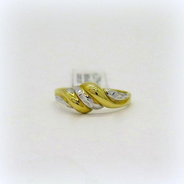 Anello in oro 18 ct bicolore