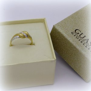 Anello in oro 18 ct bicolore