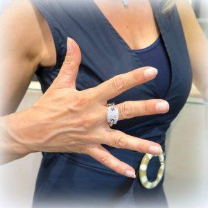 Anello moda gambo groumette argento 925