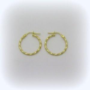 Orecchini cerchi torchon in oro giallo 18 ct