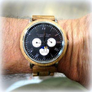 Orologio in legno barrique Green Time fasi lunari