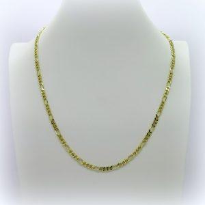 Collana oro tre più uno lunghezza 60 cm