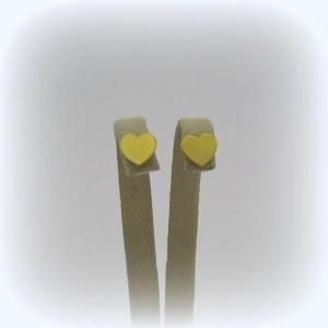 Orecchini cuore piatto in oro giallo