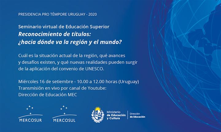 SETOR EDUCACIONAL DO MERCOSUL SEMINÁRIO DE EDUCAÇÃO SUPERIOR