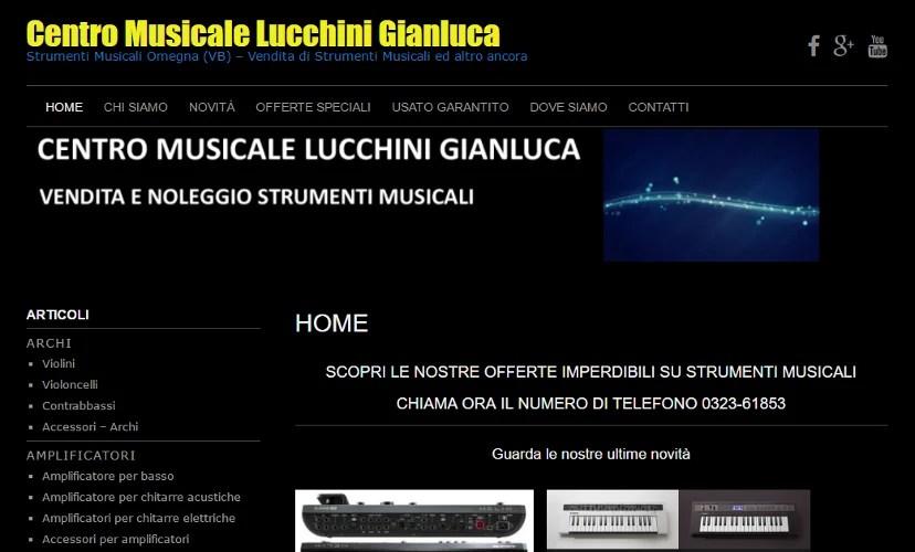 Restyling Sito Web Centro Musicale Lucchini di Omegna (VB)