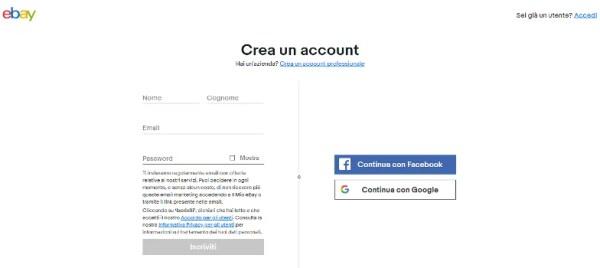 crea account ebay