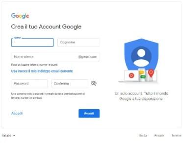 schermata inizio gmail