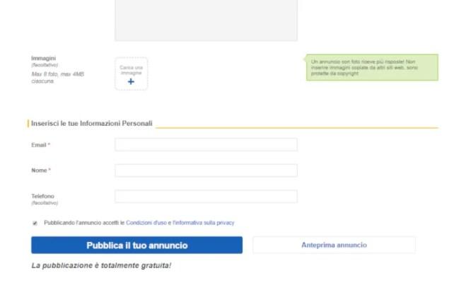 come inserire un annuncio su ebay 2
