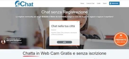 echat chat gratis senza iscrizione