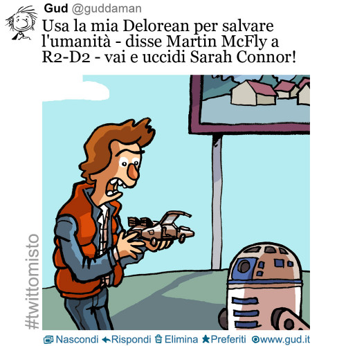 back to the future + star wars + terminator