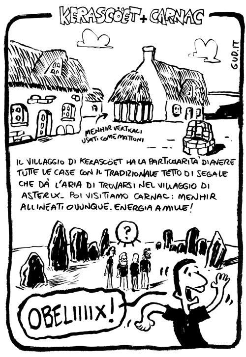 villagio di kerascoet e menhir carnac