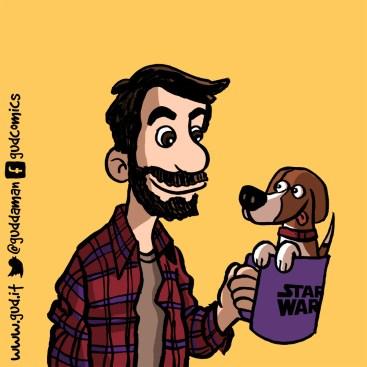 fumetto personalizzato con cane