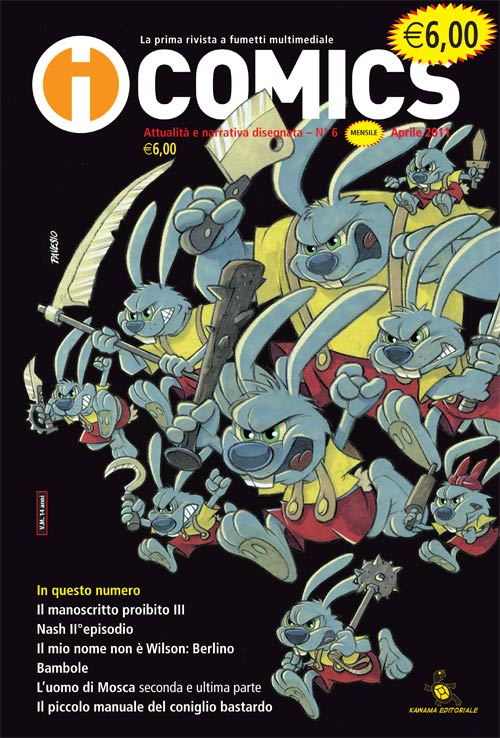 cover rivista a fumetti icomics numero 6