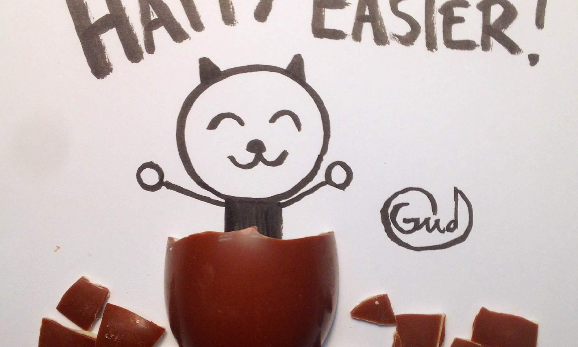 gatto pasqua uovo
