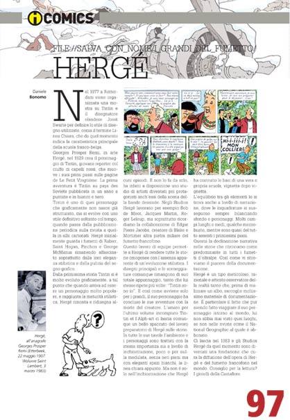 rubrica a fumetti Herge'