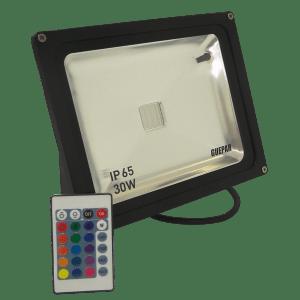 PROJETOR EXTERNO MULTICOR SUPER LED RGB GUEPAR 01
