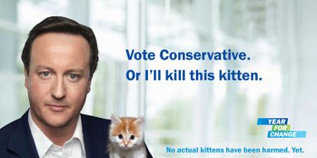 David Cameron y su gatito