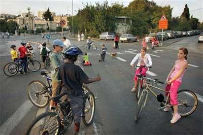 Yom Kipur, feriado das bicicletas